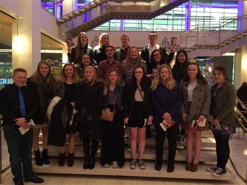 EHS Drama Club attended a performance of Les Miserables at the Overture Center