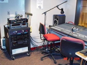 Image of sound booth equipment.