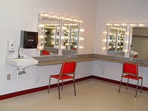 Picture of the dressing rooms.