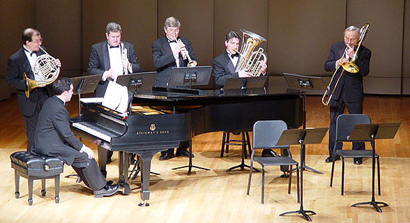 "On Friday, January 30, 2004 the endowment was kicked off with a sold out performance of the ""Chicago Brass Quintet""  with Concert Pianist Bradley Haag."