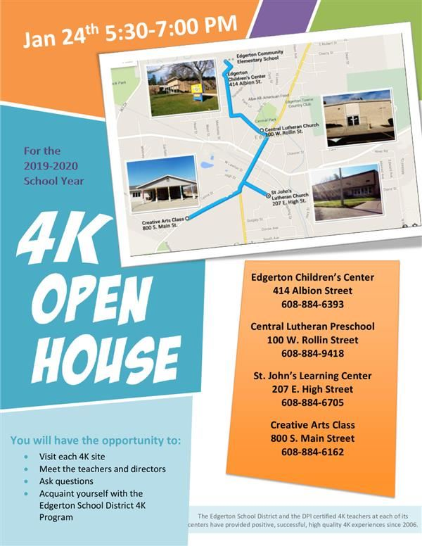 4K Open House Map