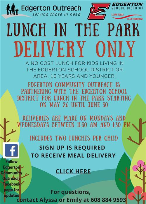 Flyer for Lunch in the Park
